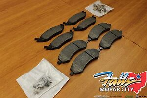 2011 2018 Jeep Grand Cherokee Front Rear Brake Pad Set Mopar Oem