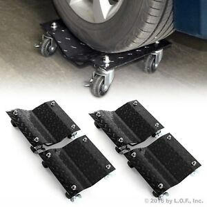 4 X 3 Set Tire Wheel Dollies Dolly Vehicle Car Auto Repair Moving Diamond 4 Pcs