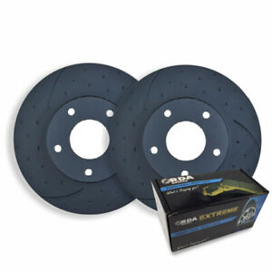 Dimpl Slotted Front Disc Brake Rotors Pads For Falcon Ute Fg Xr6 Turbo 2008 On