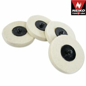 20 Neiko 3 Polishing Discs Wool Buffing Wheel Automotive Detailing Tools