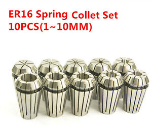 Er16 Er Collet Chuck Set 0 0006 Cnc Milling Machine Cutting Tool 1 10mm 10pcs