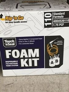 Touch n Seal U2 110 Spray Closed Cell Foam Insulation Kit 110 Bf