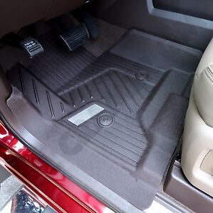 2015 2018 Gmc Sierra Crew Cab Gm Oem Front Rear All weather Floor Mats Cocoa