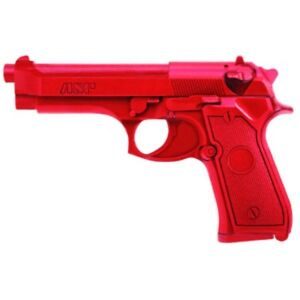Asp Police Academy Fake Martial Arts Red Gun Training Beretta 9mm 40 Pistol Gun
