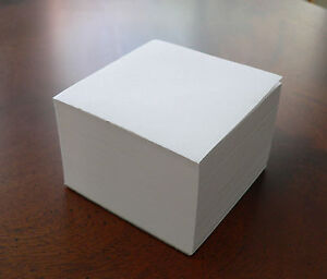 Blank Note Paper Cubes total Of 25 3 1 2 X 3 1 2 Glued 1 Side