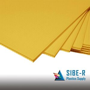 25 Pack Yellow Corrugated Blank Sign Sheet 4mm X 24 X 18 Horizontal Signs