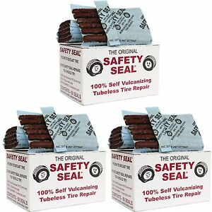 3 Box s Safety Seal Tire Plugs Tubeless Tire Repair 4 Inch Long Brown 180 Pcs