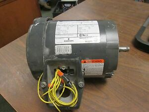 Emerson Motor U12s2acr 0 5hp 1745rpm 208 230 460v 1 86 1 94 0 97a Used