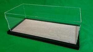 52 l X 12 w X 16 h Display Case With 3 16 Thick Acrylic And Black Wood Frame