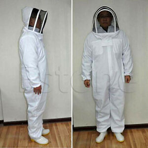 Beekeeping Protective Equipment Veil Bee Keeping Full Body Suit Hat Smock Xxl