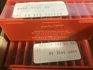 Carboloy Dnmp 542e 883 Lathe Carbide Inserts 10 Pcs Metal Cutting Tools New
