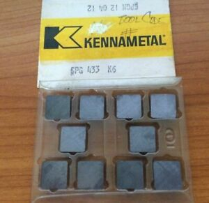 Kennametal Spg 433 K6 Spgn 12 04 12 Mill Lathe Carbide 10 Inserts Cutting Tools