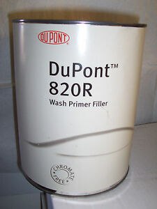 Dupont Wash Primer Surfacer 1 Litre 820r Green Etch Filler For Bare Metal