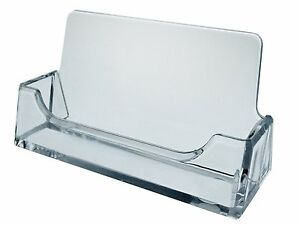 Sale 12 New Clear Plastic Acrylic Desktop Business Card Holder Display Fast Ship