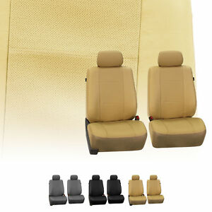 Luxury Premium Leather Front Bukcet Pair Seat Covers Set For Auto