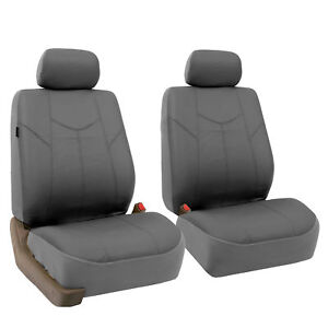 Deluxe Leather Front Bukcet Seat Covers Set For Auto 4 Colors