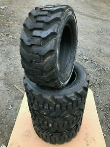 4 New 27x10 50 15 Skid Steer Tires 27x10 5 15 8 Ply for Bobcat Case And More
