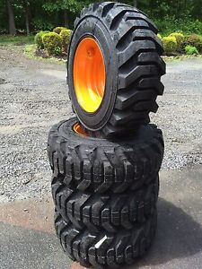 4 New 12 16 5 Galaxy Beefy Baby Iii Tires Rims For Case 12x16 5 Heavy Duty