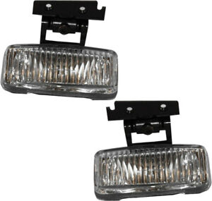 New Front Driving Fog Light Assembly New Pair Set For 197 2001 Jeep Cherokee Xj