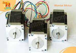 usa Stock 3pcs Nema23 Stepper Motor 270oz in 3a 4 leads 57bygh627 Cnc Wantai