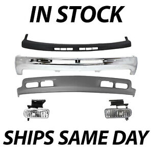 New Complete Front Bumper Kit W Fog Lights For 2000 2006 Chevy Suburban Tahoe
