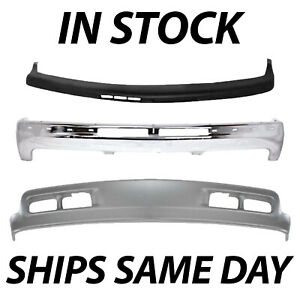Brand New Complete Steel Front Bumper Kit For 2000 2006 Chevy Suburban Tahoe