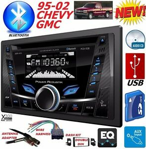 95 02 Gm Truck suv Cd Usb Ipod Iphone Aux Bluetooth Double Din Car Stereo Radio