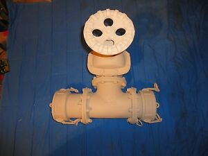 New In Box Large Ever Tite Three Way 4 Quick Connect disconnect t Valve Water