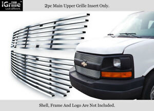 Fits 2003 2014 Chevy Express Explorer Conversion Van Stainless Billet Grille