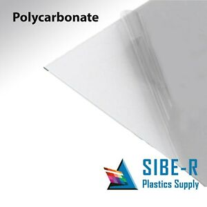 Polycarbonate Lexan Clear Plastic Sheet 1 2 X 24 X 48 Vacuum Forming