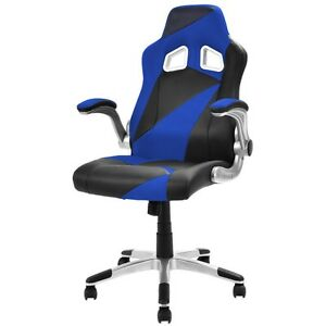 New Pu Leather Executive Racing Bucket Seat Office Chair Desk Task Computer Pc