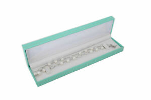 12pcs Teal Green Leatherette Bracelet watch Jewelry Display Box 8 5 8 x2 1 8 x1
