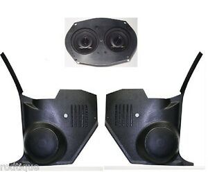 1970 72 Chevelle El Camino Dash Speakers Pioneer Kicks For Stereo Radio No Air