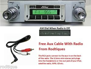 1963 1964 Ford Galaxie Radio W Free Aux Cable 230 Stereo