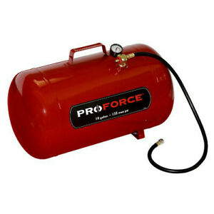 Proforce Ft10 10 gallon Portable Air Tank With Easy access Fill Valve New