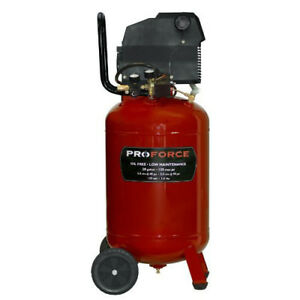 Proforce 20 Gal Vertical Wheeled Air Compressor Vlf1582019 New