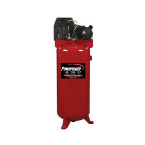Powermate 3 7 Hp 60 Gal Oil lube Vertical Air Compressor Pla3706056 New