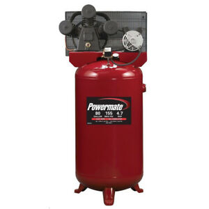 Powermate 4 7 Hp 80 Gal Hi flo Cast iron Air Compressor Pla4708065 New