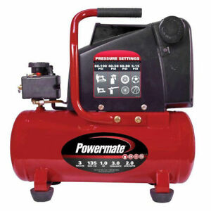 Powermate Vpp1080318 3 Gallon Horizontal Portable Hot Dog Air Compressor New