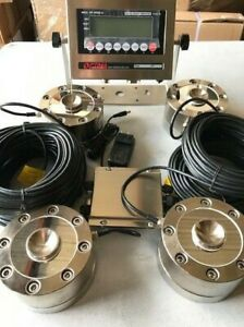 Compression Load Cell Tank Scale 200 000 Lb X 10 Lb 4 Lpd 50k Indicator new