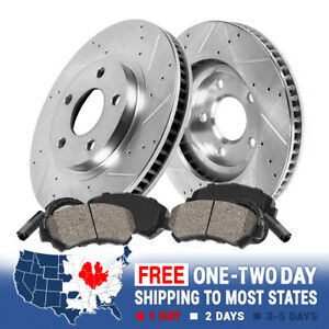 Front 312 Mm Brake Disc Rotors And Ceramic Pads For Mercedes Benz E350 E500
