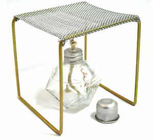 Eisco Labs Alcohol Burner With Burner Stand approx 5 x5 x5 Starter Set