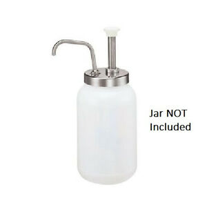 Condiment Pump For 1 Gal Jar Dispenser Gallon Commercial Concessions