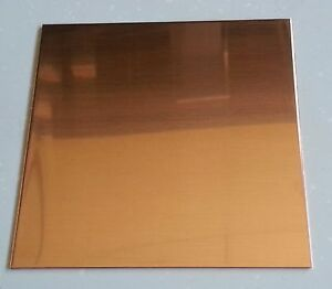 48 Oz 1 16 Flat Copper Sheet Plate 12 X 12