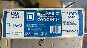 Square D Q06 12100s 100 Amp 120 240 Volt 1 Phase Load Center E1385 new