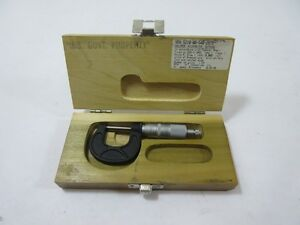 Micrometer Scherr tumico Box Damage Missing Wrench Nos 30741