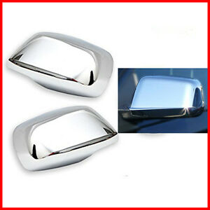 For 05 12 Nissan Xterra Pathfinder Frontier Chrome Full Mirror Covers Set Pairs