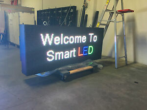 10 Year 2 x6 Led Full color Wireless 10mm Programmable Message Sign Outdoor 2x6