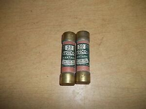 Trico 50 Amp Fuse Lot Of 2 free Shipping