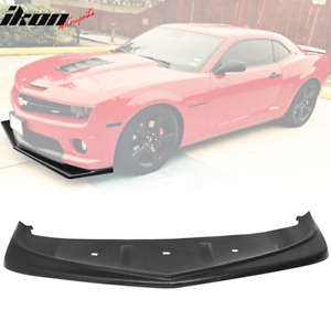 Fits 10 13 Camaro V8 Z28 Look Style Front Bumper Lip Lower Spoiler Urethane Pu